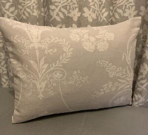 """12x16"""" Laura Ashley cushion cover Josette dove grey/Austen Dove Grey reverse"""