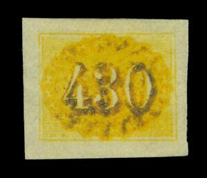 BRAZIL 1861 COLORIDOS  430reis red  Scott # 40 mint MH  XF
