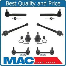 07-10 Hummer H3 8Pc Chassis Kit Low Ball Joints Tie Rod Sway Bar Links 16MM