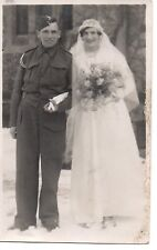Soldier R.A.& Wife Wedding Photograph, by F.A.Bourne,Langney Rd,Eastbourne,RP/PC