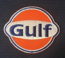 GULF LOGO OIL F1 GAS GASOLINE  BADGE IRON SEW ON PATCH