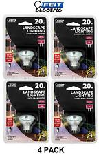 4 PACK Landscape Light 20W 12 Volt G4 Base 2 Pin Garden Lamp Bulbs Feit Electric