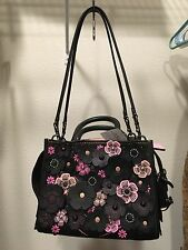 NWT COACH 1941 Rogue 25  in Pebble Leather Tea Rose  Black multi pink SOLD OUT