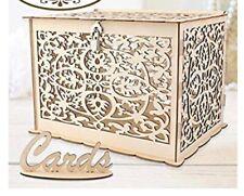 DIY Wedding Card Box Rustic Wood Card Box Gift Card Holder for Wedding Banquet