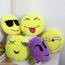 33cm Emoji Smiley Emotion amarillo redondo Manta Almohada relleno