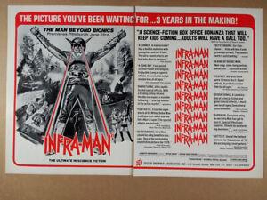 1976 INFRA-MAN vintage movie industry trade print Ad