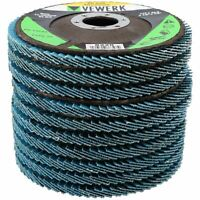"60 Grit Zirconium Flap Discs for Sanding Grinding Removal 4-1/2"" Grinder 10pc"