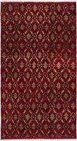 "Hand-knotted Turkish Carpet 5'4"" x 9'7"" Keisari Vintage Traditional Wool Rug"