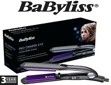 New Babyliss 2165BU Pro Crimper 210 Tourmaline Ceramic Iconic Retro Hair Styling