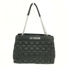 Love Moschino Handbag Large Black Shoulder Bag Quilted Casual 251447