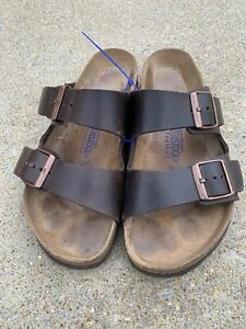 Birkenstock 40 Arizona Germany Brown Leather Soft Bed