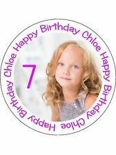 90 PRE-CUT EDIBLE WAFER CUP CAKE TOPPERS PERSONALISED PICTURE PHOTO TEXT IMAGE