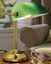 Traditional Bankers Emeralite Green Glass Desk Lamp - Dimmable & Touch Sensitive