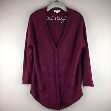 Eileen Fisher Sweater Purple Large Petite Organic Cotton Organic Linen