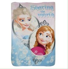 Official Disney Frozen 2 Sharing The World Fleece Blanket Elsa &  Anna. New.