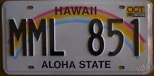 Targa Americana HAWAII MML 851 ALOHA STATE - 31x16 cm - Il Più basso di EBAY