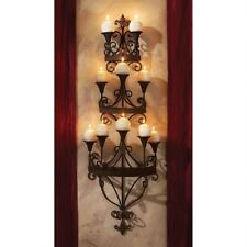 UNIQUE  European CANDLE CHANDELIER WALL SCONCE Medieval Candlesticks Candles NEW