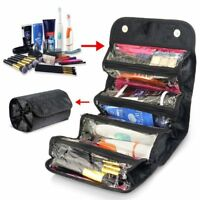 Roll-up Storage Bag Cosmetic Makeup Case Organizer Purse Toiletry Travel Pouch