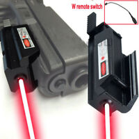 Tactical Compact Pistol Red Laser With Remote Switch for Glock Hunting Handgun