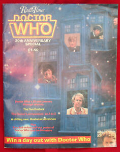 RARE: Radio Times Doctor Who 20th Anniversary Special. VGC minus.