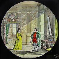 HAND COLOURED Glass Magic Lantern Slide KENILWORTH NO8 C1890 VICTORIAN STORY
