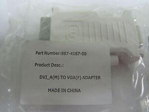 DVI-A Male To VGA Female Adapter Molex 887-4187-00 Fast Shipping
