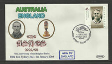 AUSTRALIA v ENGLAND ASHES 2002/03 SERIES 5th TEST MATCH SYDNEY COVER