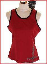 Womens Oakley Sports Training Vest Tank Top Moisture Control Medium Red