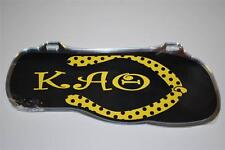 Kappa Alpha Theta License Plate Flip-Flop Black & Gold Theta Greek Sorority NEW