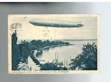 1930 Bregen Austria Graf Zeppelin in FLight RPPC Postcard Cover to Germany