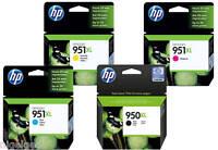 HP 951XL 950XL Black Cyan Magenta Yellow Set x 4 CN045AE CN046AE CN047AE 8610