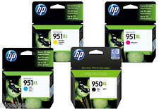 HP 951XL 950XL Black Cyan Magenta Yellow Set x 4 CN045AE CN046AE CN047AE 8610