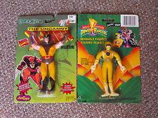 1991 X-Men Wolverine & 1993 Yellow Power Ranger Bendable Figure Lot New Bend Em