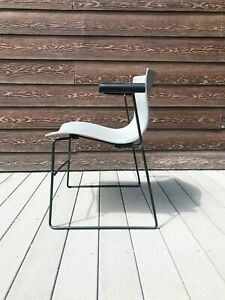 Vintage Original Knoll Massimo Vignelli Grey Handkerchief Chairs with Arm Rests