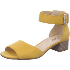 Neues AngebotGabor Damen Samtchevreau Sonne gelb Leder Sandalen Größe UK 4.5 EUR 37.5