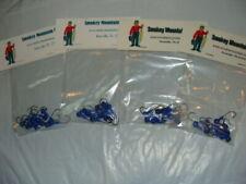 Jig Head Round Ball Head 1/8 oz- Blue/Black eyes - #1 Hook - 4 pack, 10 per pack