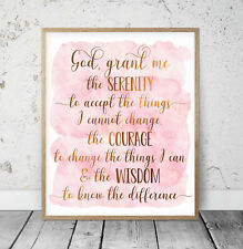 God Grant Me The Serenity, Bible Verse Printable Wall Art,Bible Quotes