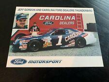 Vintage Jeff Gordon Carolina Ford Dealers MINT NASCAR postcard