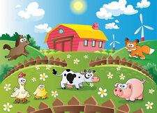 Foto Wallpaper-Animales de Granja-niños habitación pared mural 254x183cm para Dormitorio de bebé