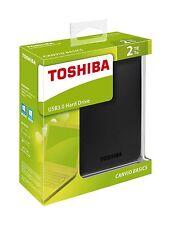 NEW 2TB Toshiba Canvio Basics Portable External Mobile Hard Disk Drive USB3.0