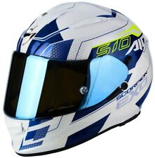 Casco Scorpion Exo-510 Air galva Pearl White-blue talla M
