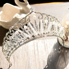 Pearl Crystal Crown Queen pageant Wedding Bridal Tiara Hair Accessories Headband