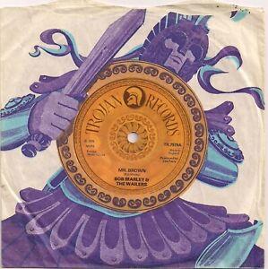 REGGAE 45 BOB MARLEY & THE WAILERS - MR. BROWN / TRENCH TOWN ROCK - UK TROJAN
