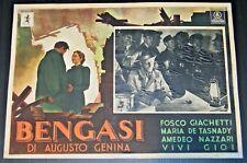 fotobusta film BENGASI Augusto Genina Giorgio Costantini 1942 WW2 Africa