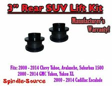 "3"" Rear STEEL Coil Lift Spacer Chevy GMC SUV 1500 Tahoe Suburban Yukon Z71 LTZ"