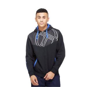 Sergio Tacchini Mens Carter Hoodie New Full Zip Hoody Jumper Hooded Sweater Top