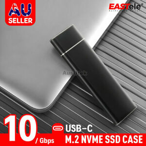 USB 3.2 10Gbps To M.2 NVMe SSD External Enclosure Storage Case Box USB-C Drive