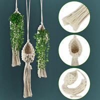 2x Air Plant Hanger Macrame Planter Hanging Holder Flower Basket Rope Home Decor