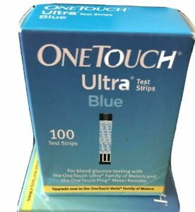 One Touch Ultra Blue 100ct Diabetic Glucose Test Strips