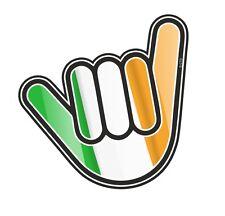 No Worries Hand With Ireland Irish IRL Country Flag vinyl car Truck sticker